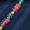 インディゴ縞刺繍